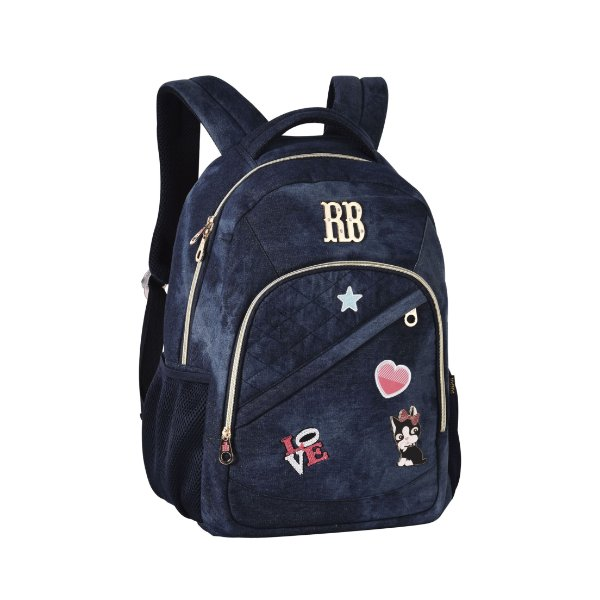 Mochila Escolar Rebecca Bonbon  Notebook RB2055 Jeans Escuro