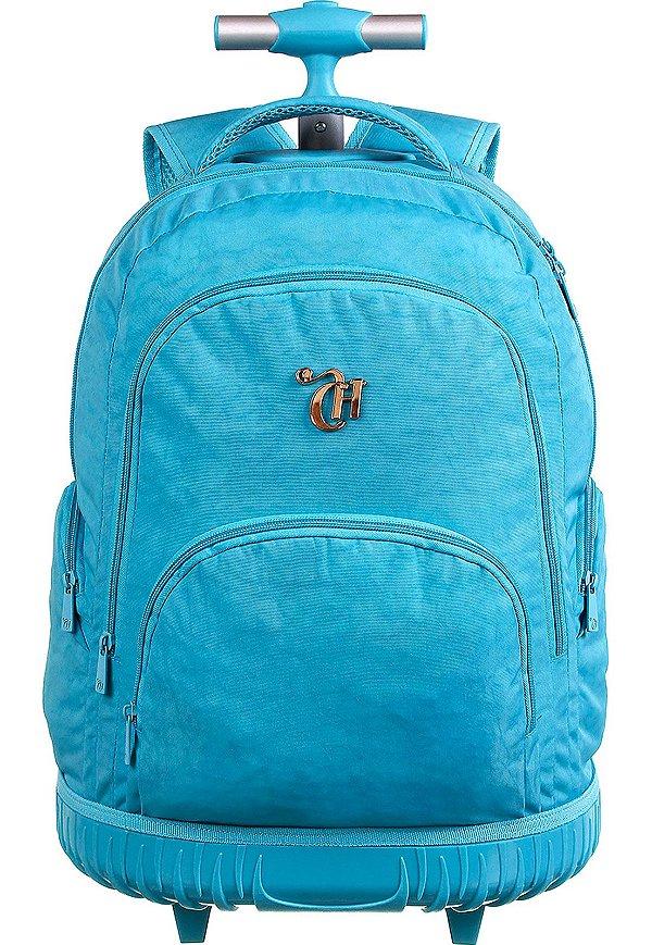 Mochila Escolar De Rodinhas Capricho Azul - 11905