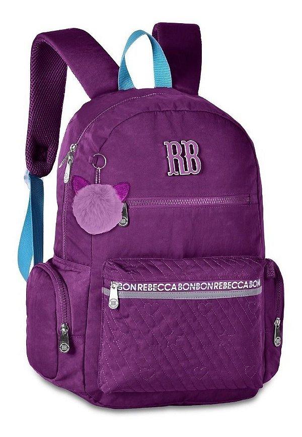 Mochila Escolar Rebecca Bonbon RB2061 - Roxa