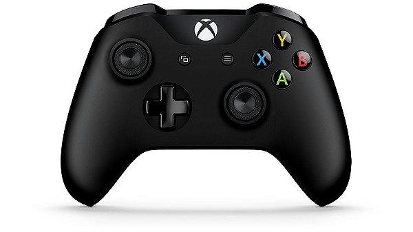 Controle Sem Fio Xbox One S e X Preto Com Bluetooth - 3ª geração - 1708 - Microsoft