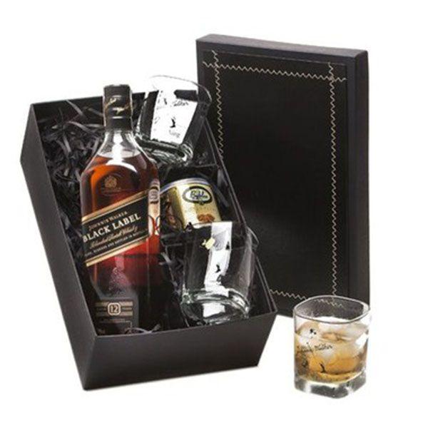 Kit Whisky Black Label Castanha