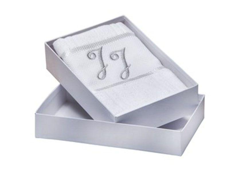 Toalha Inicias Prata - Caixa