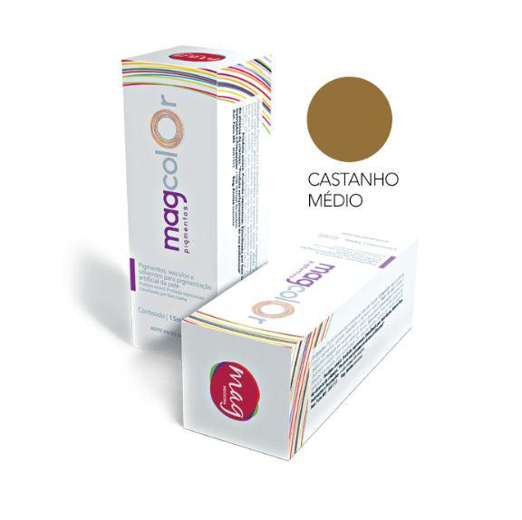 Pigmento Mag color 15ml - Castanho Médio