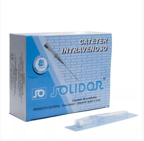 Catéter para aplicação de piercing - caixa 50 und.