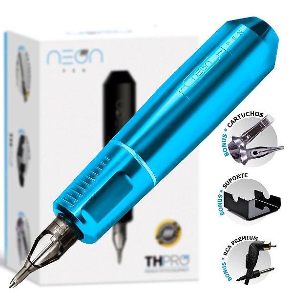 Máquina Rotativa Neon Pen TH PRO - Azul Céu - PRÉ-VENDA: 4° LOTE