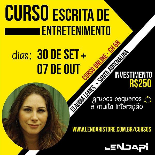 [CURSO ONLINE] Escrita de Entretenimento com Claudia Lemes