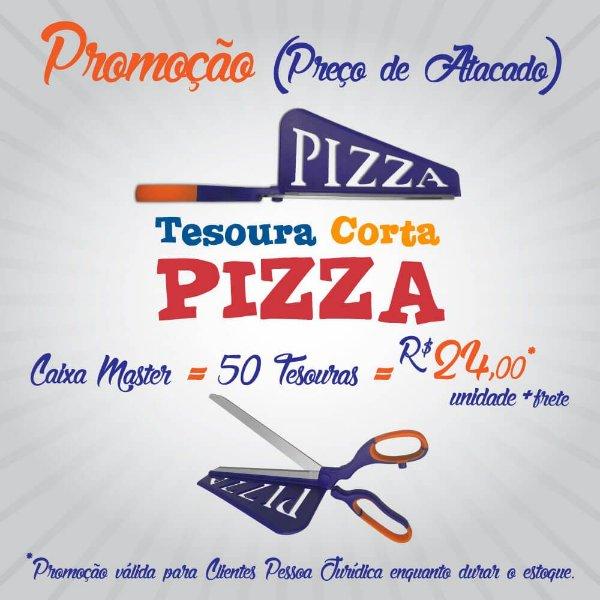 Promoção - tesoura corta pizza = caixa master com 50 unidades - preço de atacado!