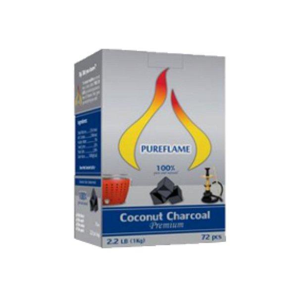 Carvão de Coco Premium (em cubos ou hexagonal) - 1kg - Especial para Churrasqueiras
