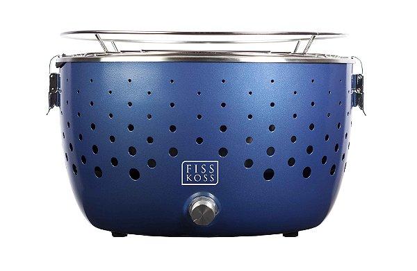 Churrasqueira Portátil a Carvão - FISS KOSS Grill - FK 102 - SkyBlue  - Ganhe 1kg de Carvão de Coco
