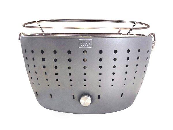 Churrasqueira Portátil a Carvão - FISS KOSS Grill - Silver