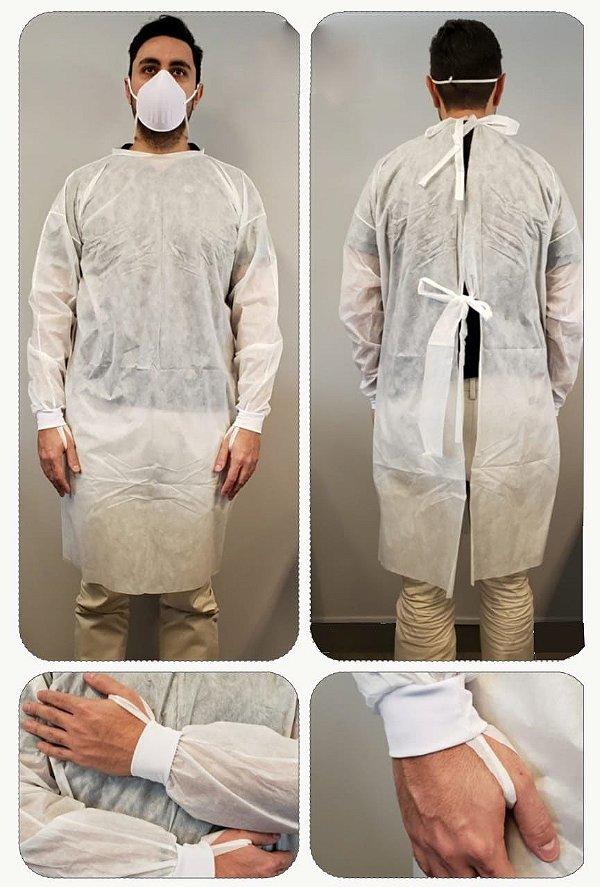 Avental Cirúrgico Descartável - 10 por pacote