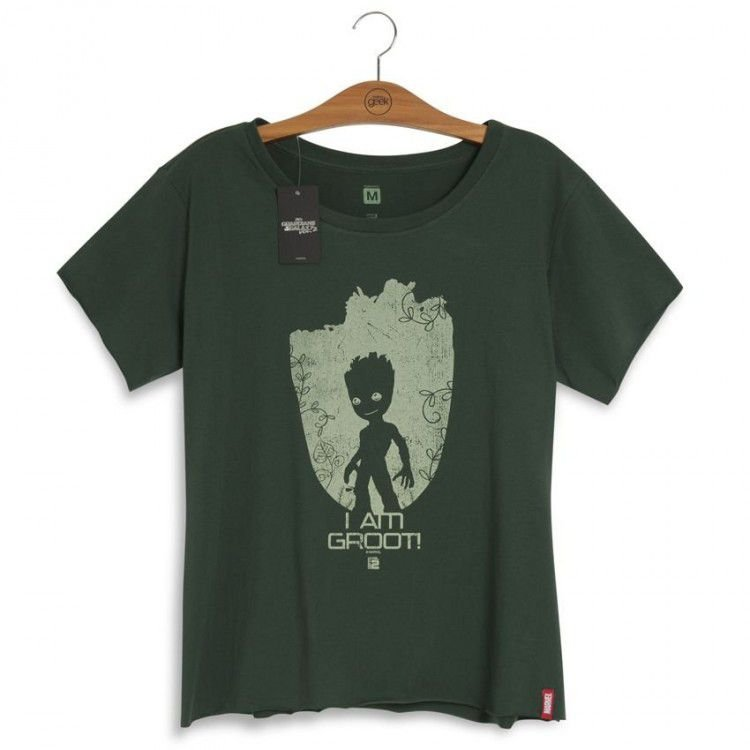 Camiseta Feminina Guardiões da Galáxia Baby Groot Vol. 2