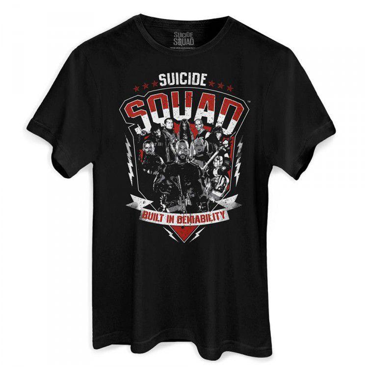 Camiseta DC Esquadrão Suicida - Built in Deniability