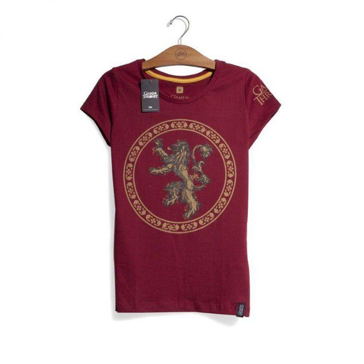 Camiseta Feminina Game of Thrones - Casa Lannister