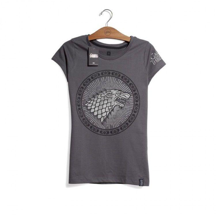 Camiseta Feminina Game of Thrones - Casa Stark