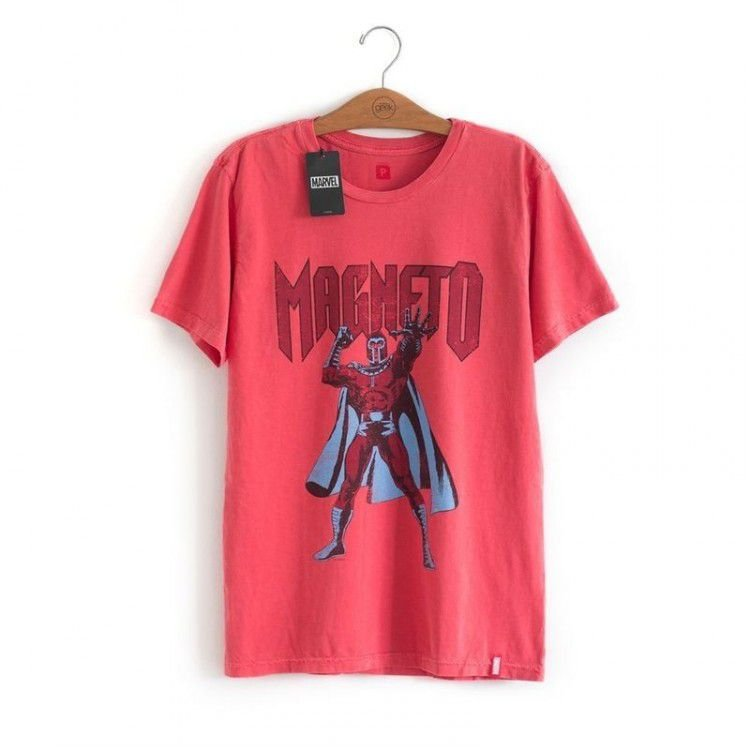 Camiseta Marvel - Magneto Vermelha