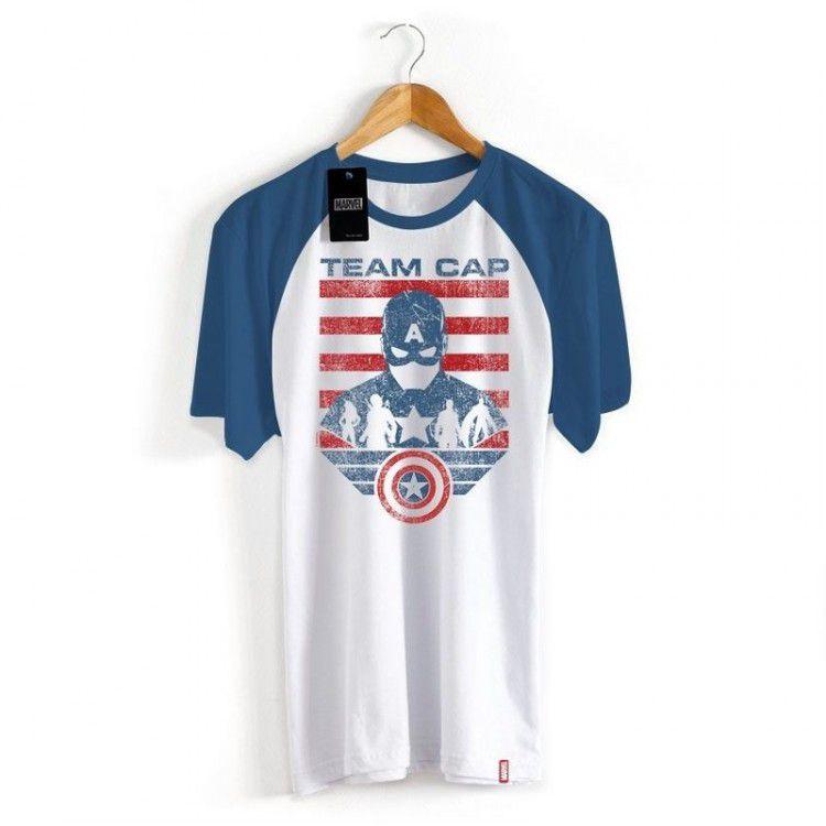 Camiseta Marvel Guerra Civil - Time Capitão América
