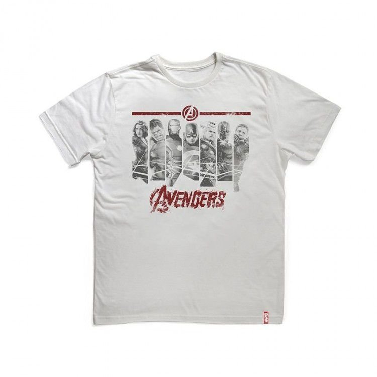 Camiseta Marvel Vingadores Era de Ultron - Faixas