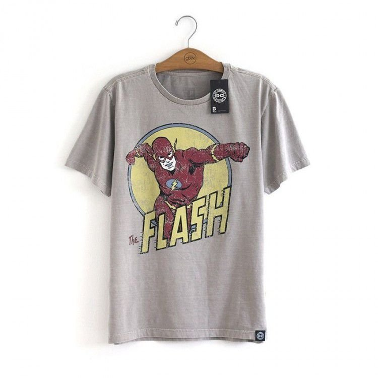 Camiseta The Flash Cinza