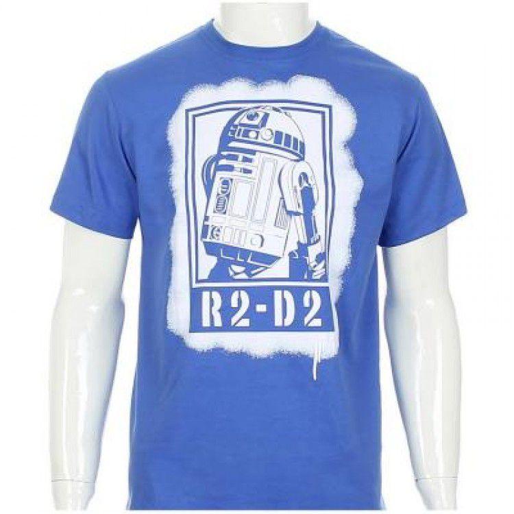 Camisetas Star Wars - R2D2 Azul