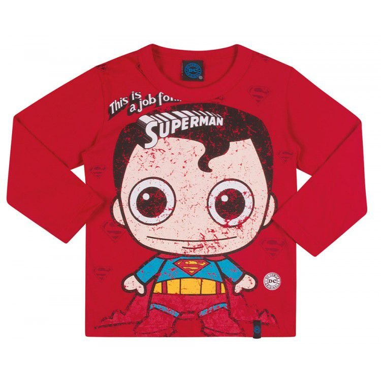Camiseta Infantil DC - Superboy Vermelha