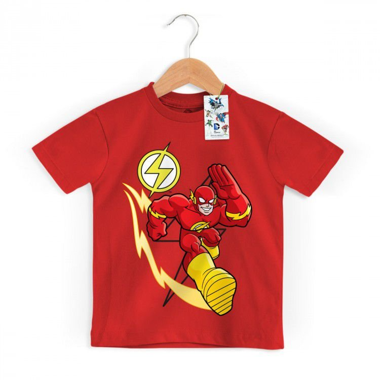 Camiseta Infantil DC - The Flash em Ação