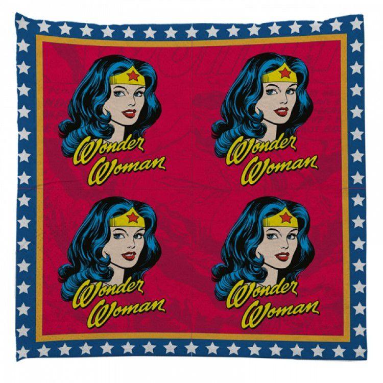 Guardanapo de Papel DC - Wonder Woman Faces