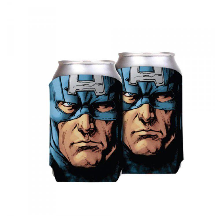 Porta Latas Marvel - Capitão América