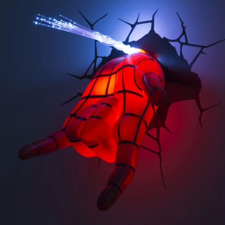 Luminária 3D Mão do Homem Aranha