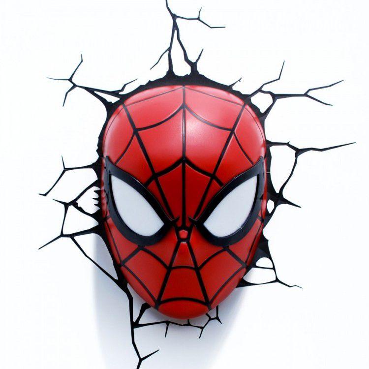 Luminária 3D Máscara do Homem Aranha