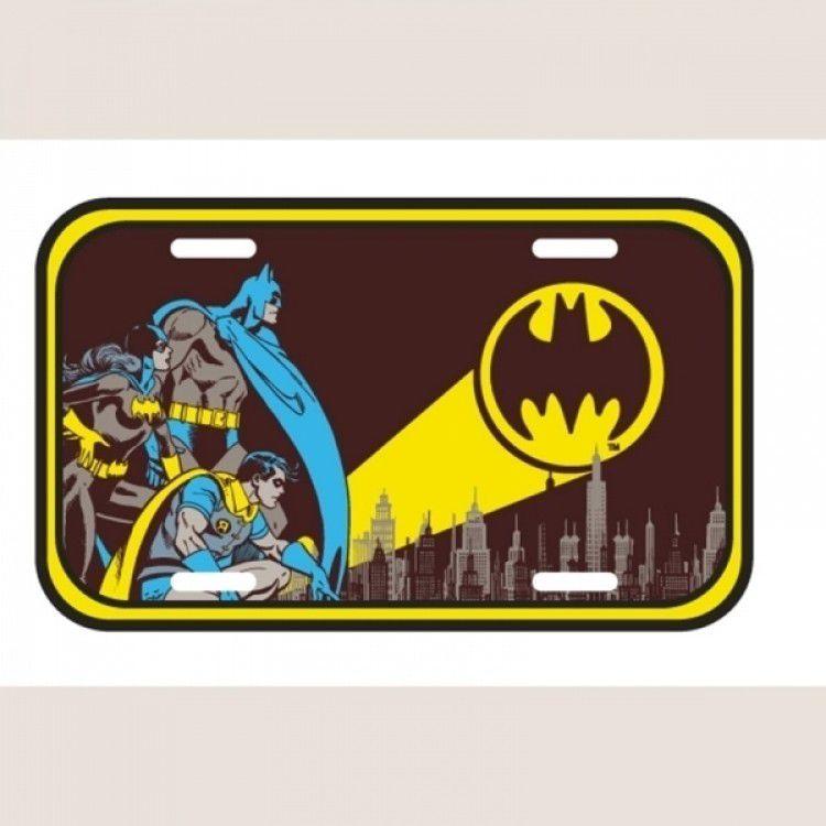 Placa de Metal DC - Sinal de Alerta Batman