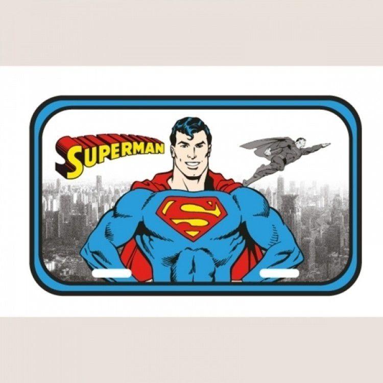 Placa de Metal DC - Superman em Detroit