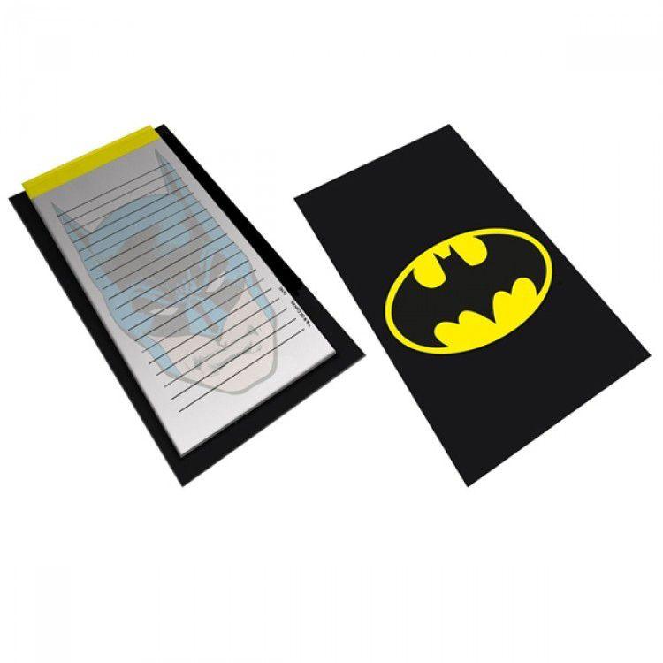 Bloco de Anotação com Prancheta DC - Batman Logo