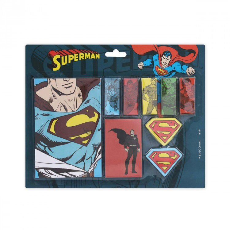 Bloco de Notas com Adesivo DC - All Kinds of Superman