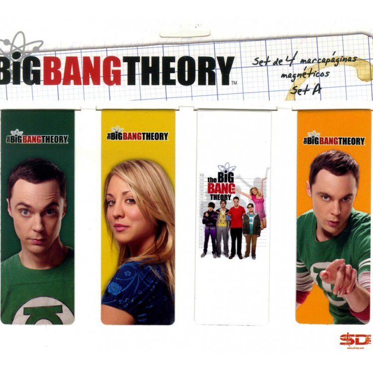 Marcadores de Livro Magnéticos (SET C/ 4) - The Big Bang Theory