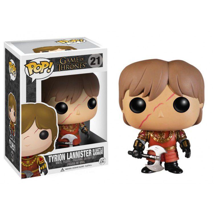 Funko Pop Game of Thrones - Tyrion Lannister Cicatriz e Armadura de Batalha