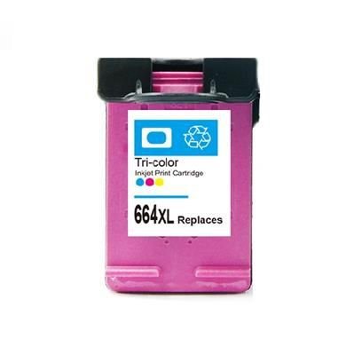 Cartucho HP 664XL Color | DeskJet 1115 2136 3636 3836 3536 4676 | Compativel Microjet 17ml