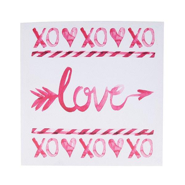 TELA LOVE XOXO ROSA 28 X 1,5 X 28CM