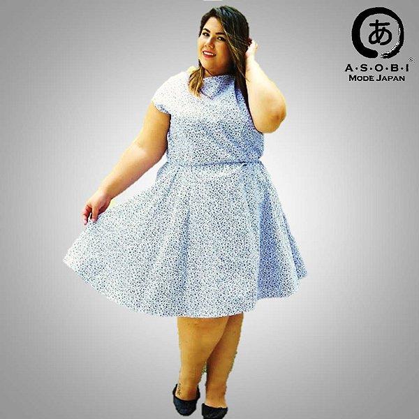 Vestido Plus Size Tricoline - Haru