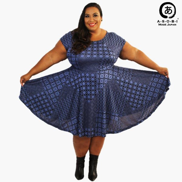 Vestido Plus Size - Twilight Godet