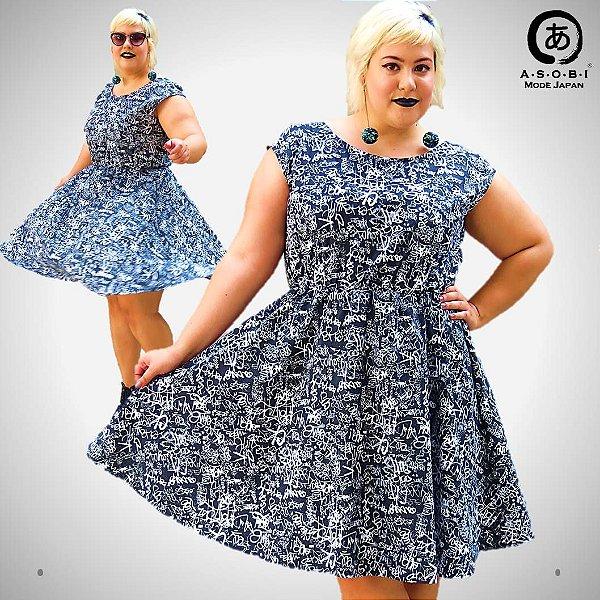 Vestido Tricoline Evasê  - STREET