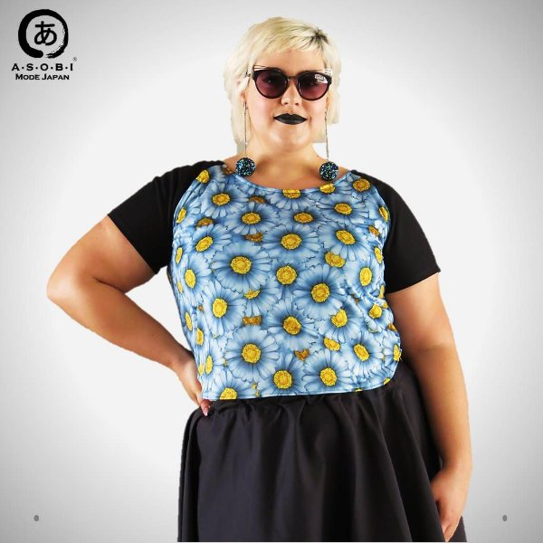Blusa Projeto RE-THINK - Blue Daisies