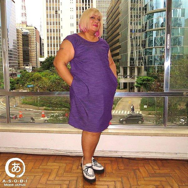Vestido Linha ZEN Alfaiataria Violeta com Bolsos