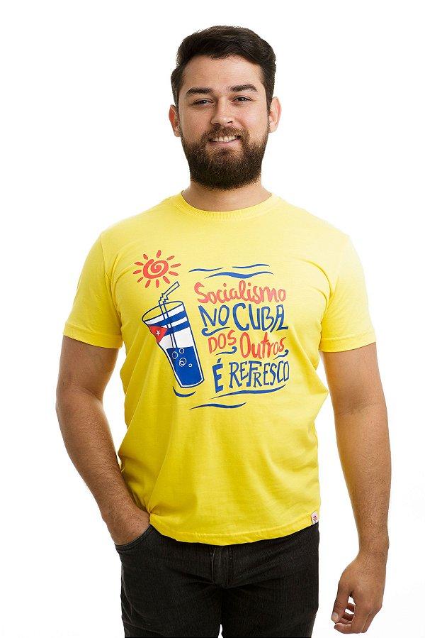Camiseta Socialismo no Cuba dos outros é refresco Amarela