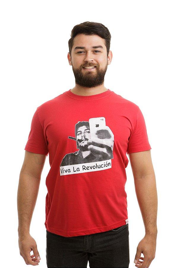 Camiseta Che Guevara Selfie Vermelha