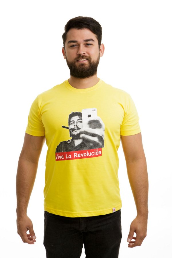 Camiseta Che Guevara Selfie Amarela