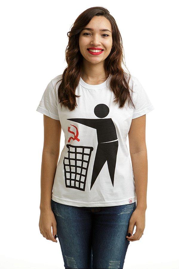 Camiseta Comunismo Lixo Branca (Baby Look)