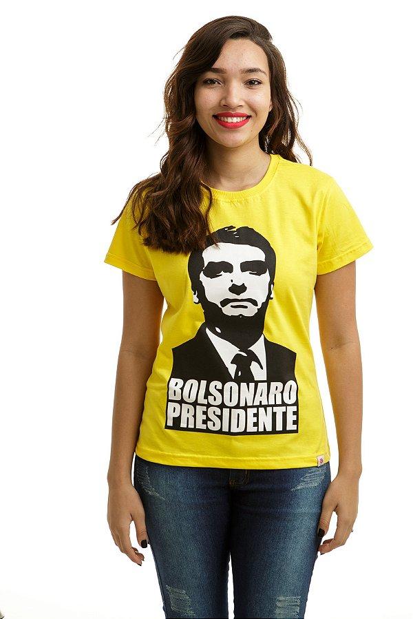 Camiseta Bolsonaro Presidente Amarela (Baby Look)