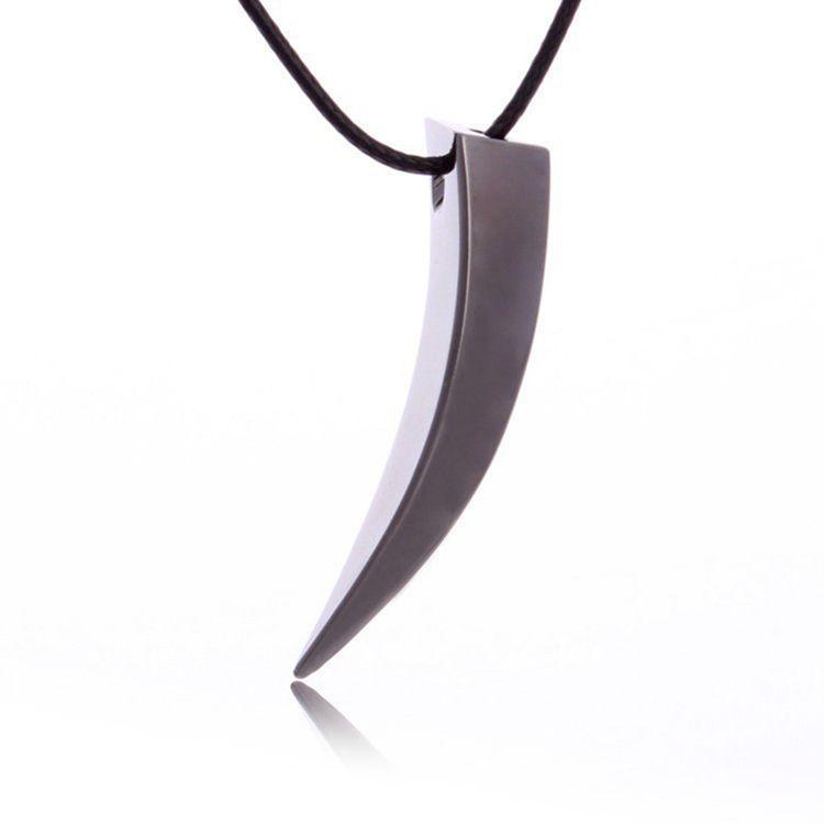 Colar masculino em couro e pingente dente elefante em prata 925 Coleção Homem Nobre Luizinho Nobre