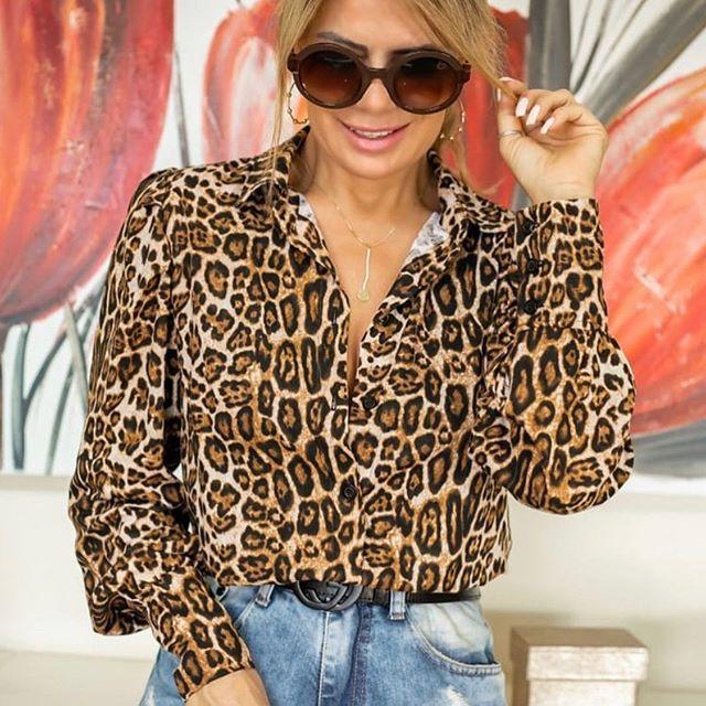 Camisa Viscose Animal Print